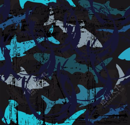鲨鱼海洋海底世界各种鱼图片