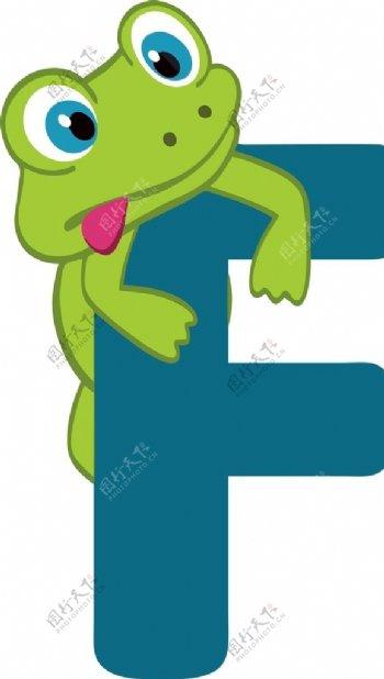 字母f青蛙图片