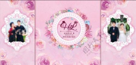 粉色婚礼背景图片