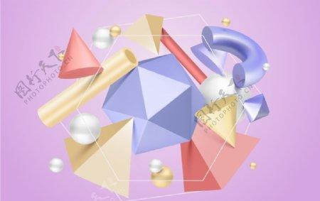 立体3D几何图形图片