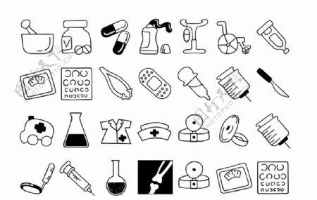 医药用品简笔画图片