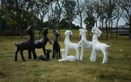 羊雕塑图片