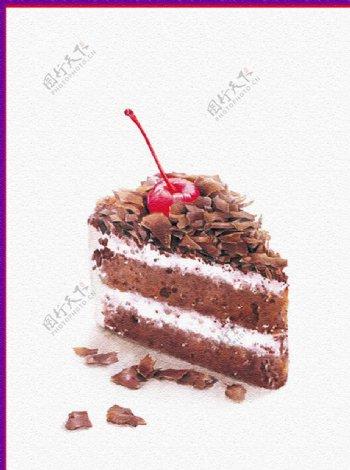 樱桃蛋糕图片