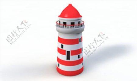 C4D模型灯塔房子图片