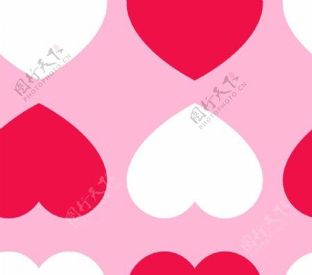 红白爱心图片