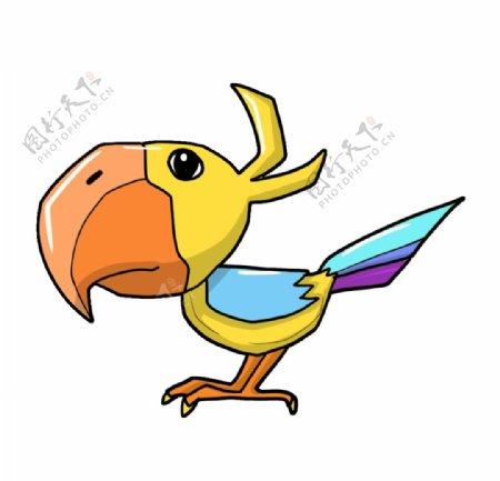手绘彩色小鸟图片