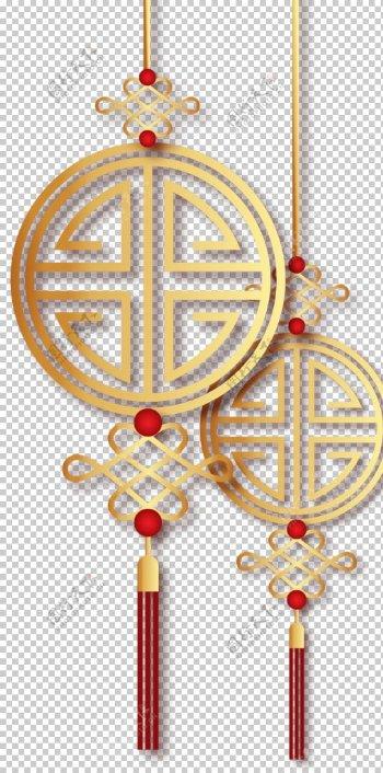 金色中国结素材图片