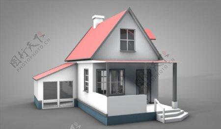 C4D模型房子家图片