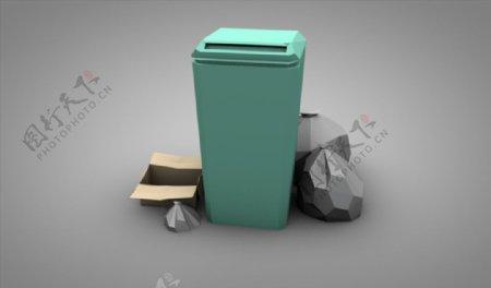 C4D模型垃圾桶图片