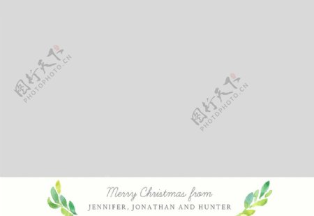 宝宝相册圣诞节节日卡片模板图片