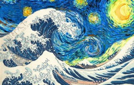 彩色油画艺术绘画背景图片