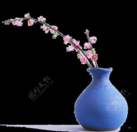 春天桃花素材花瓶图片