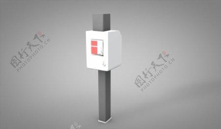 C4D模型充电桩计时器图片