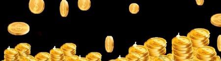 散落的金币硬币金钱图片