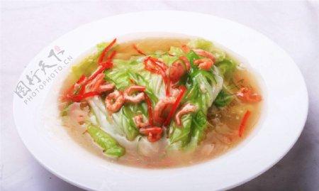 海米扒白菜图片