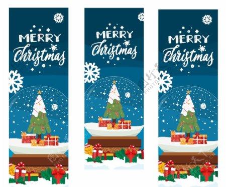 圣诞玻璃贴纸圣诞树圣诞礼物装饰图片