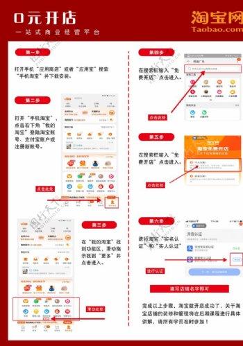 手机淘宝开店流程图图片