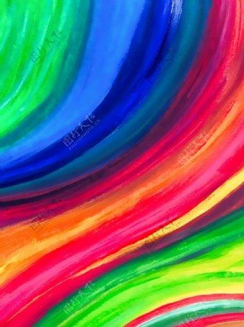 彩虹涂鸦图片