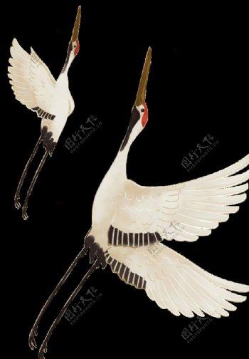 白鹤古风素材图片
