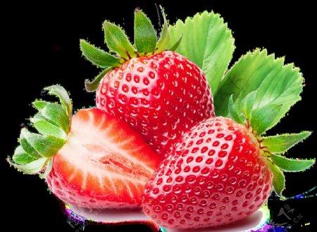 透明背景免抠图草莓图片