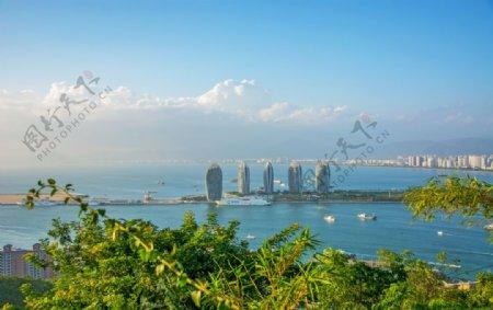 沿海城市风景图片