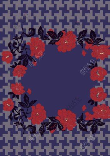 几何花朵图片