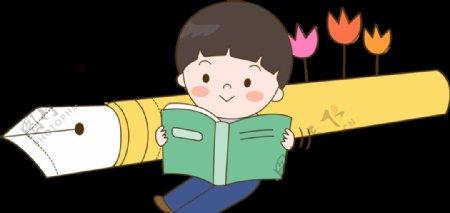 儿童读书儿童读书免扣图片