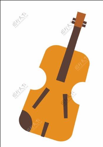 矢量小提琴图片