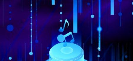 蓝色时尚音乐背景图片
