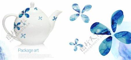 家具生活水彩插画水壶图片