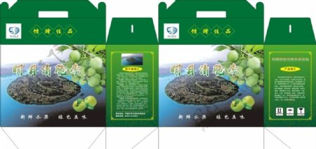 李子水果包装盒图片