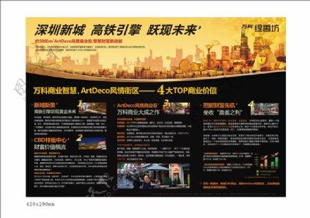 地产商业单页展板图片