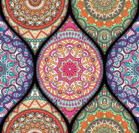 矢量高级花纹印花图案图片