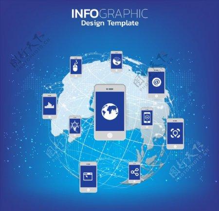 手机网络背景图片