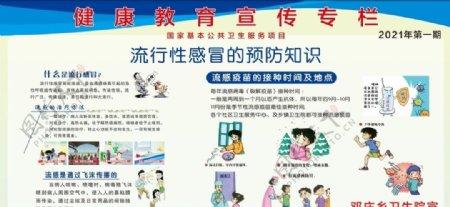 流行性感冒预防宣传教育图片