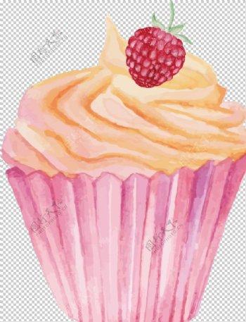 粉色纸杯蛋糕图片
