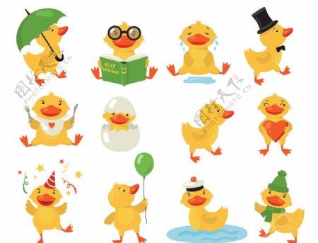 卡通动物鸭子图片