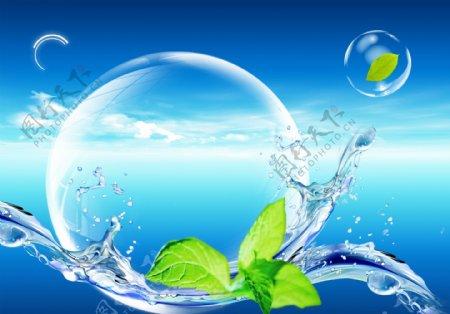气泡水珠图片