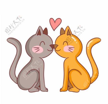 宠物情侣猫咪图片