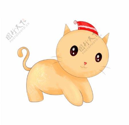 卡通可爱小猫图片