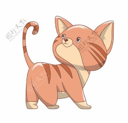 简约手绘猫咪图片