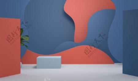 橙色蓝色图片