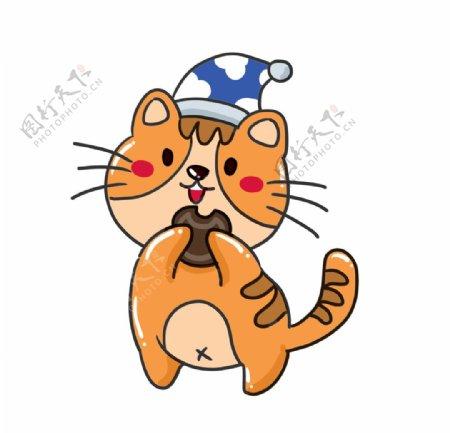 戴帽子的可爱小猫图片