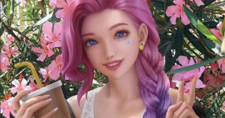 游戏美女图片