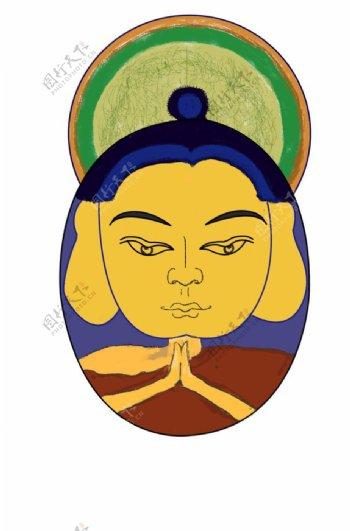 藏族佛教插画图片