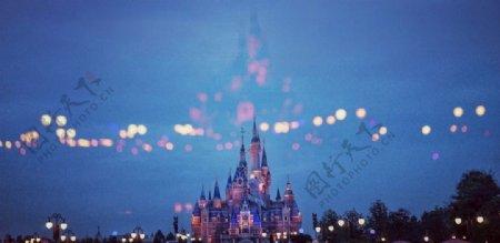 迪士尼城堡建筑图片
