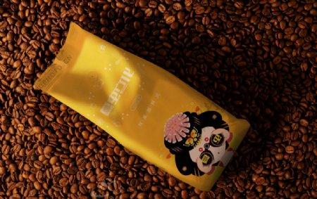 咖啡茶罐样机图片