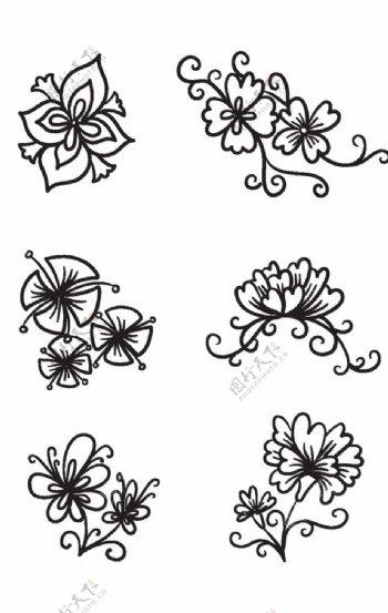 黑白花纹图片