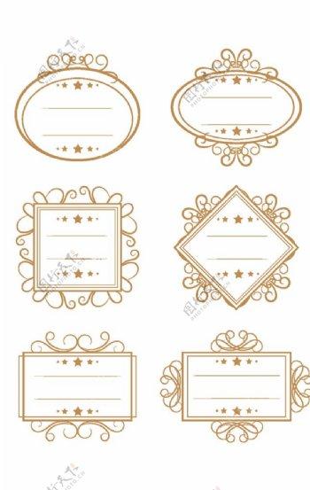 金色古典花纹图片