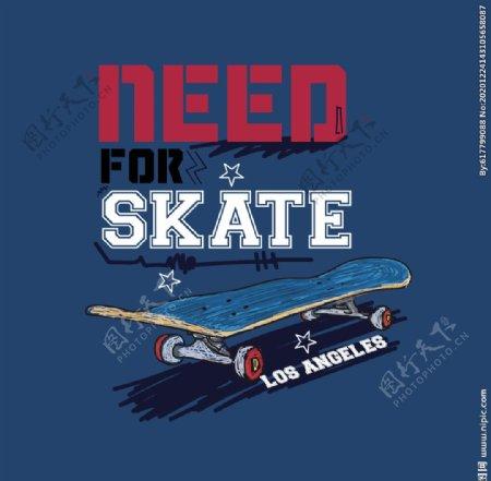 滑板体育运动SKATE字图片